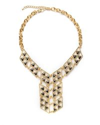 Saks Fifth Avenue - Metallic Twotone Triangle Bib Necklace - Lyst