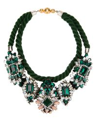Shourouk | Green Ivana Necklace | Lyst