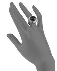 Slane - Metallic Pave Black Sapphire Basketweave Ring - Lyst