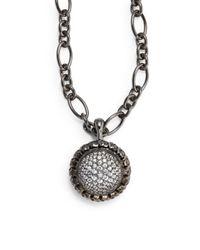 Slane - Metallic White Sapphire Sterling Silver Pendant - Lyst