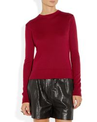 The Row Red Ghent Fineknit Cashmere and Silk-blend Sweater
