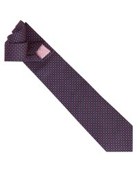 Thomas Pink Purple Hartland Neat Woven Tie for men
