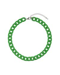 TOPSHOP - Chunky Apple Green Chain - Lyst