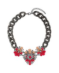TOPSHOP | Pink Chunky Flower Chain Necklace | Lyst
