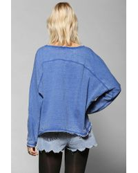 Urban Outfitters - Blue Sparkle Fade Burnout Sweatshirt - Lyst