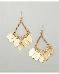 Wendy Mink | Metallic Gold Leaf Cluster Chandelier Earrings | Lyst