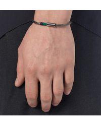 Yuvi | Metallic Sterling Silver Mesh and Cord Bracelet for Men | Lyst