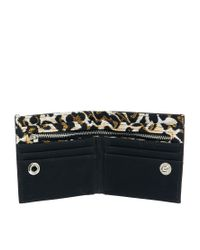 ASOS - Black River Island Wallet with Leopard Print Lining - Lyst