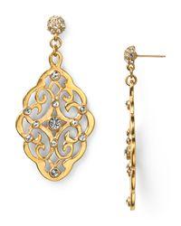 Carolee Metallic What A Girl Wants Drop Earrings