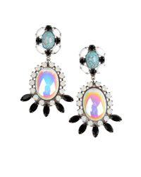 DANNIJO   Black Valentia Earrings   Lyst
