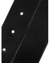 Dolce & Gabbana | Black Plaque Buckle Leather Belt | Lyst