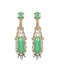 Erickson Beamon | Green Bette Davis Eyes Earrings | Lyst