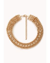 Forever 21 - Metallic Secret Glam Choker Necklace - Lyst