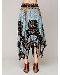 Free People | Brown Vegan Fringe Mini Skirt | Lyst