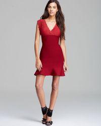Guess Red Dress Lace Bandage Mix