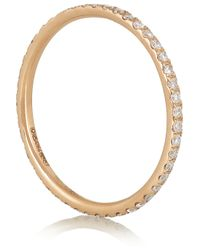 Ileana Makri | Metallic 18karat Rose Gold Diamond Eternity Thread Ring | Lyst