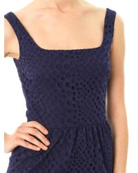 Issa Blue Broderie-Anglaise Dress