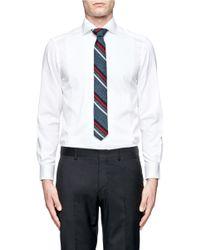 J.Crew - Blue Fisher Striped Silk Tie for Men - Lyst