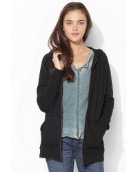Urban Outfitters | Black Bdg Dolman Zipup Hoodie Sweatshirt | Lyst