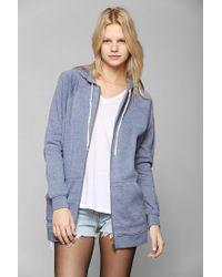 Urban Outfitters | Blue Bdg Dolman Zipup Hoodie Sweatshirt | Lyst