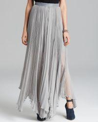 Alice + Olivia Gray Maxi Skirt Ava Pleated