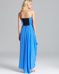 Alice + Olivia Blue Alice Olivia Maxi Dress Waldorf Silk