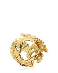 Aurelie Bidermann Metallic Ginko Feather Ring