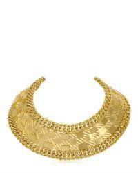 Balmain | Metallic Gold Plated Collar Necklace | Lyst