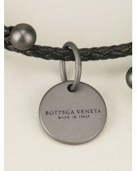 Bottega Veneta   Black Intrecciato Bracelet   Lyst