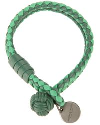 Bottega Veneta | Green Tonal Intrecciato Bracelet | Lyst