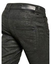 Diesel Black Gold Black 17cm Stretch Coated Denim Jeans for men