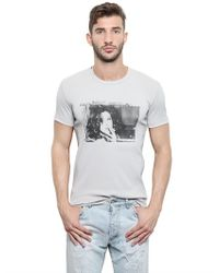 Dolce & Gabbana White Mini Rib Jersey Monica Bellucci T-shirt for men