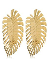 DSquared² | Metallic Leaf Earrings | Lyst