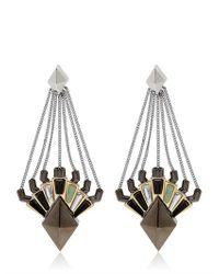 Eddie Borgo - Metallic Horus Drop Earrings - Lyst