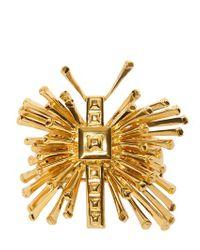 Emanuel Ungaro | Metallic Butterfly Plated Gold Metal Bracelet | Lyst