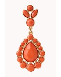Forever 21 - Red Iconic Faux Stone Teardrop Earrings - Lyst