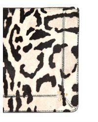 Jérôme Dreyfuss Black Popoche Zebra Print Pony Pouch