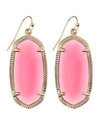 Kendra Scott - Purple Goldplated Elle Earrings Berry - Lyst