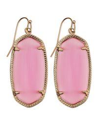 Kendra Scott Rhodium Danielle Earrings Pink
