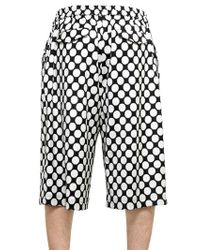 Kris Van Assche - Black Polka Dot Woolviscose Blend Shorts for Men - Lyst