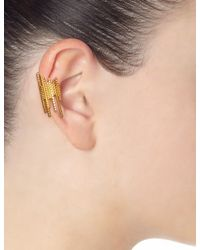 Maria Black | Metallic Gold Plated Cascade Ear Cuff | Lyst