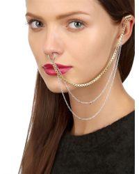 Maria Francesca Pepe Metallic Never Is A Promise Piercing Ear Cuff