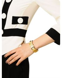 Moschino | Metallic Grained Leather Bracelet | Lyst