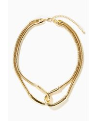 Nasty Gal - Metallic Double Over Collar Necklace - Lyst