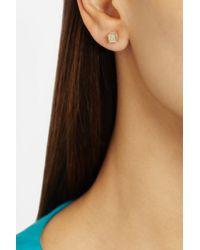 Noor Fares - Metallic Geometry Cube Dress 18karat Gold Diamond Earrings - Lyst
