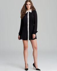 Rachel Zoe Black Dress Laurel Pleated Shirt