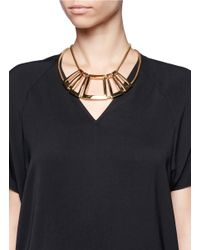 St. John - Metallic Architectural Gold Snake Chain Necklace - Lyst
