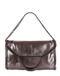 Stella McCartney | Metallic The Falabella Large Shoulder Bag | Lyst