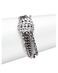 Stephen Webster | Metallic Sterling Silver Multi-Chain Bracelet | Lyst