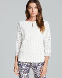 Tory Burch White Elie Top